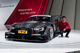 The RS 5 DTM and reigning champion Rockenfeller